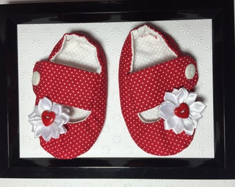 Size 3-6M BABY SOFT SHOES, crib shoes, Mary Jane shoes, handmade baby shoes