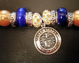 Air Force Military Charm Bracelets