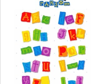 NEW Sizzix ALPHABAR RANSOM Alphabet & Numbers Die Set scrapbooking   Works with Cuttlebug