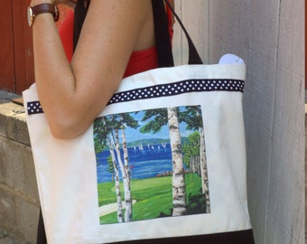 Hand-painted Custom Canvas Totes