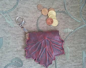 Leather coin purse, coin purse, purse, leather purse, handmade purse.