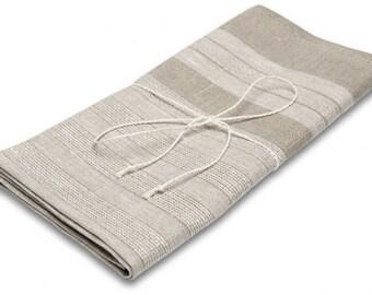 Linen Tea Towel, Natural Light Grey Linen Kitchen Towel, Eco Kitchen Towel, Linen Gift