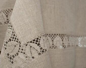 100 % Linen Tablecloth Flax Grey, Eco linen table top, Linen table cover