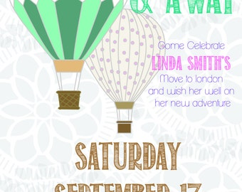 Moving Away Party - DIY PRINTABLE INVITE