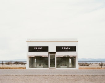 Fine Art Print of Prada Marfa from 120 FILM! Photo, Marfa, Texas, Landscape, Desert, West, Installment, Architecture, Photograph