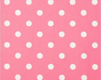1 Yard Pink and White Polka Dot Fabric - Premier Prints Baby Pink and White Polka Dot Fabric ONE YARD pink bubblegum medium pink