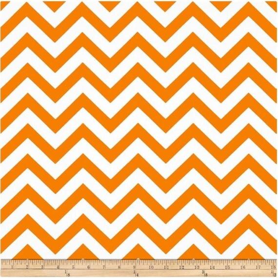 1 Yard Orange and White Chevron Fabric - Premier Prints Tennessee ...