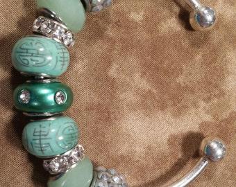 Aqua Green bangel bracelet