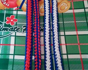 Hawaiian Double Braided Deluxe Ribbon Lei