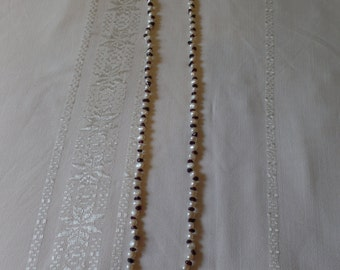 Necklace Freshwater Pearls and Garnets
