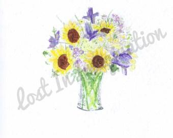 Watercolor Flower Trio Part 2