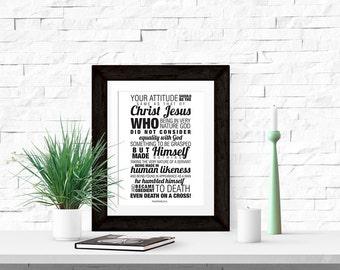Philippians 2:5-8 8x10 Printable