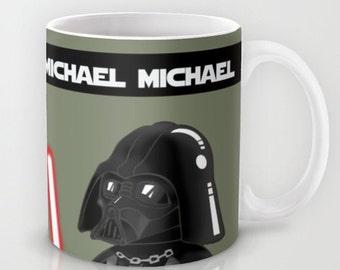 Star Wars Custom Mug  / Darth Vader Mug / Custom with name