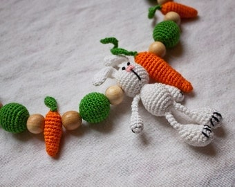 "Sling bead necklace ""Bunny"""
