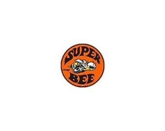 Dodge Super Bee Embossed Metal Circular Sign C-040