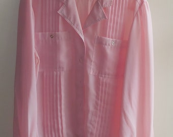 Pink Polyester Blouse