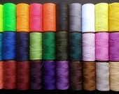 170 meters coil brand waxed thread LINHASITA 30 colors to choose from.