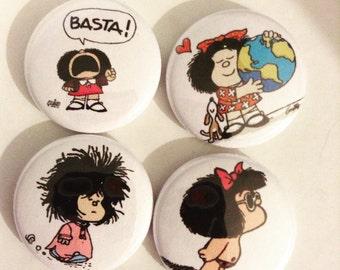 Mafalda Pin button