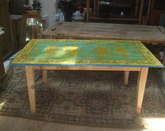Italian Daruda hand painted table