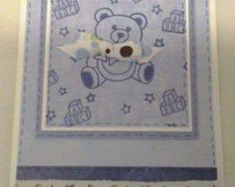 Beary Cute Baby Boy Greeting Card