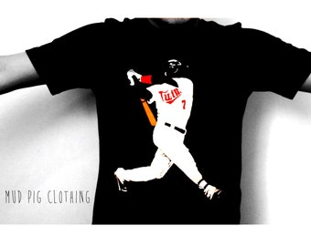 Joe Mauer signiture swing-Minnesota Twins-Shirt