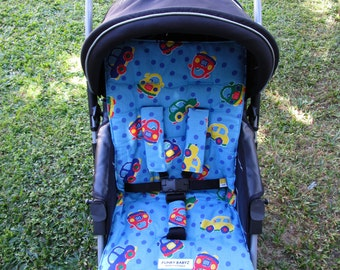 Pram/car seat liner set,Australian made-Boy designs,5 designs to choose from-*NEW*