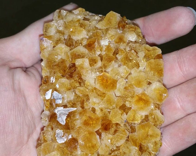 Citrine Crystal Cluster from Brazil- Deep Orange 4 inch cluster Citrine Crystal \ Raw Citrine \ Healing Stone \ Natural Citrine \ Citrine