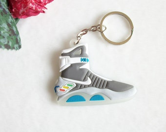 Back To The Future Marty Mcfly  Air Mag Sneaker Keyring Keychain Glow in Dark