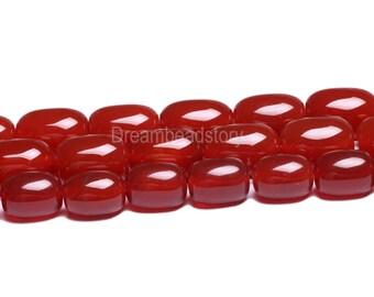 Carnelian Beads, Natural Carnelian Barrel Beads, Red Agate Gemstone Drum Beads,10*14 13*18mm Full Strand Barrel Shape Beads for DIY Jewelry