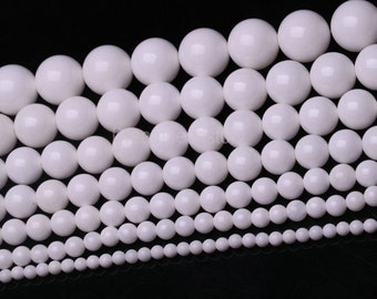 Tridacna Stone Beads, Giant Clam Shell Beads, Round Natural Mother-of-pearl Tridacna Beads, 4 6 8 10 12 14 16 18 20mm White Sea Shell Beads