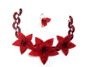 "Jewelry set ""Poppies"