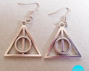 BIG Harry Potter Deathly Hallows Earrings