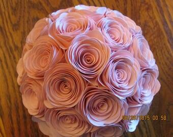 Beautiful elegant paper rose pomanders, kissing balls, wedding decorations, shower or table top decorations