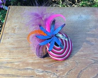 Handmade Feather Fascinator