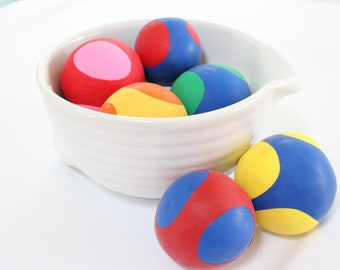 Set of 6 Multi-Colored Stress Balls