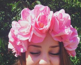 Jumbo Pink Flower Headband