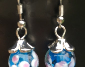 Blue glass bead