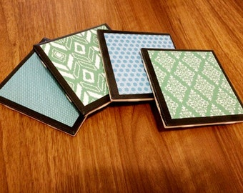 Ceramic Tile Coasters (Black Background)