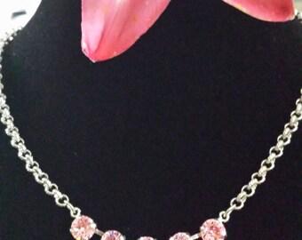 Swarovski Necklace, Cotton Candy