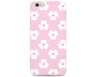 Japanese cherry blossom cell phone case, pink flower, Apple iphone, Samsung Galaxy, Note, 6, 6 plus, 5, 4 etc