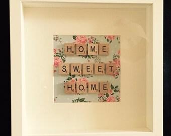 Scrabble Art, Home Sweet Home Frame