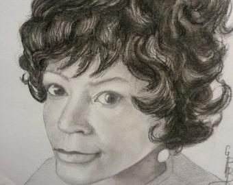 portraits , original ,custom charcoal