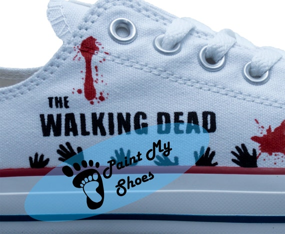 The Walking Dead, Rick, converse, hand painted shoes, free shipping in the US