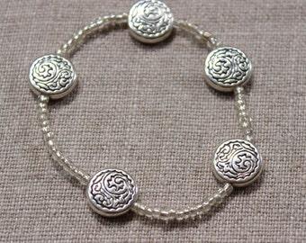 Charm Bracelet w/ Tiny Glass Beads