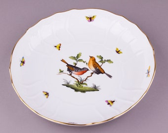 Herend Rothschild Bird Open Vegetable Bowl