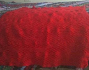 Wheelchair Red Lap Blanket
