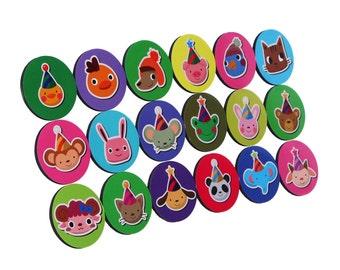Kids' Magnets Set - FACES 18x