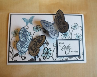 Get well soon card with butterflies