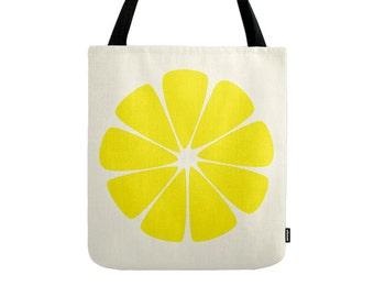 Yellow tote bag Yellow bag Yellow canvas tote bag summer tote bag gift for her Yellow shoulder bag canvas bag summer bag Latte 2 Wear