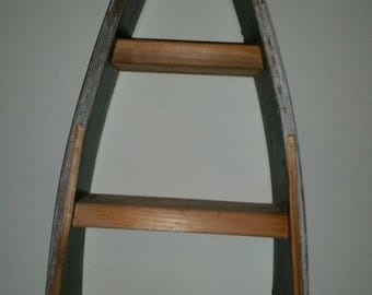 Canoe Wall hanging or table top w/shelves